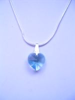 Lizette - Crystal Heart Pendant Necklaces - Bespoke
